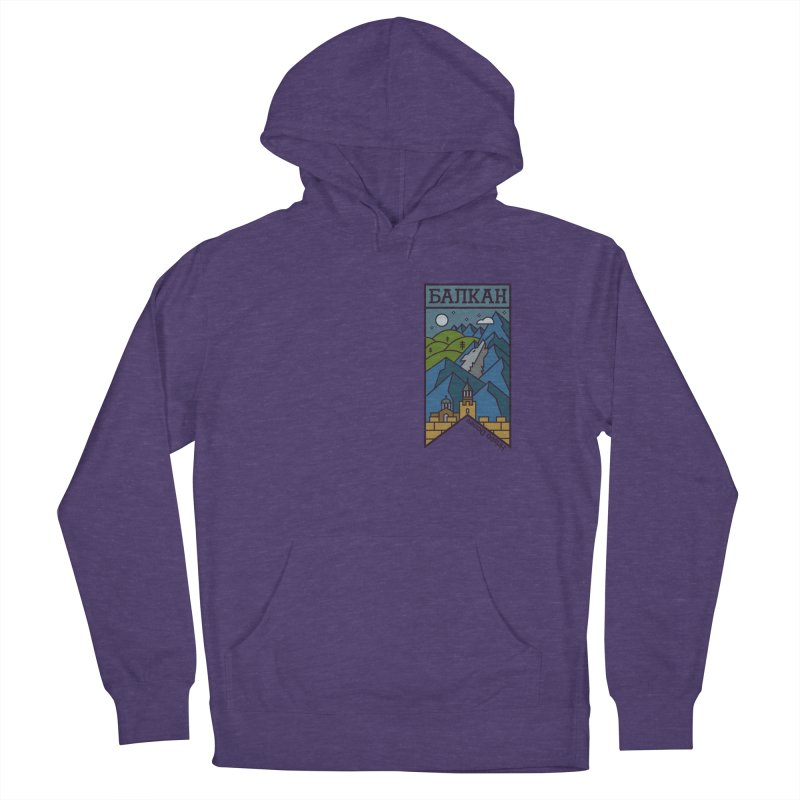 Balkan Men's French Terry Pullover Hoody by Hristo's Shop