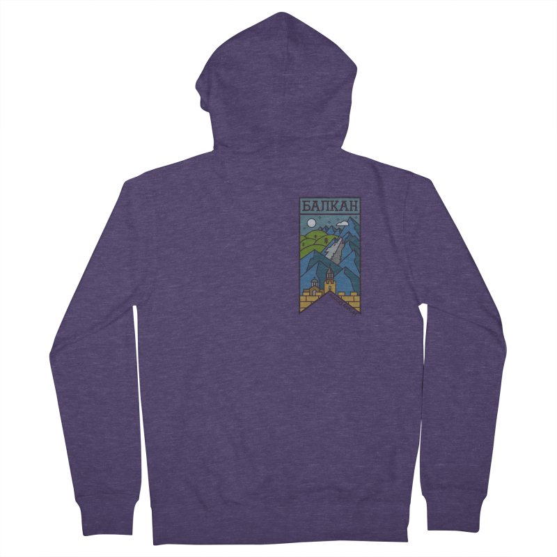 Balkan Men's French Terry Zip-Up Hoody by Hristo's Shop