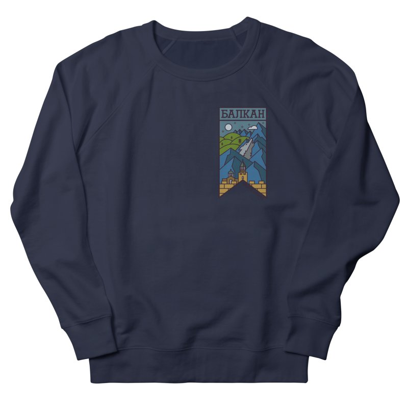Balkan Men's French Terry Sweatshirt by Hristo's Shop