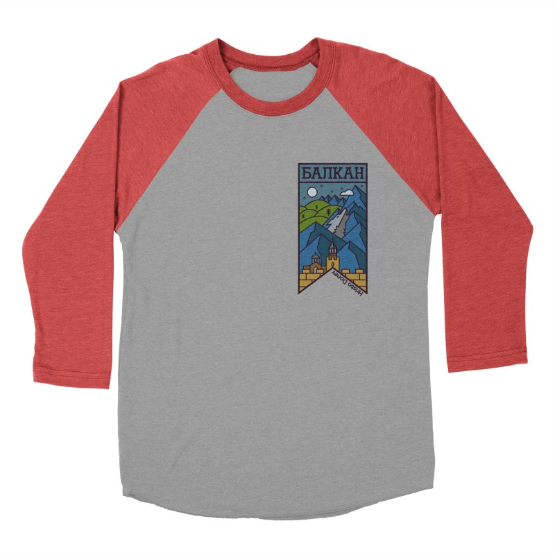 Balkan Women's Baseball Triblend Longsleeve T-Shirt by Hristo's Shop