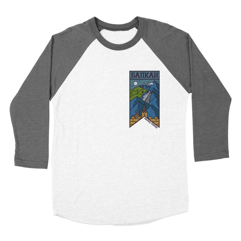 Balkan Men's Baseball Triblend Longsleeve T-Shirt by Hristo's Shop
