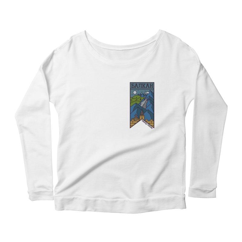 Balkan Women's Scoop Neck Longsleeve T-Shirt by Hristo's Shop