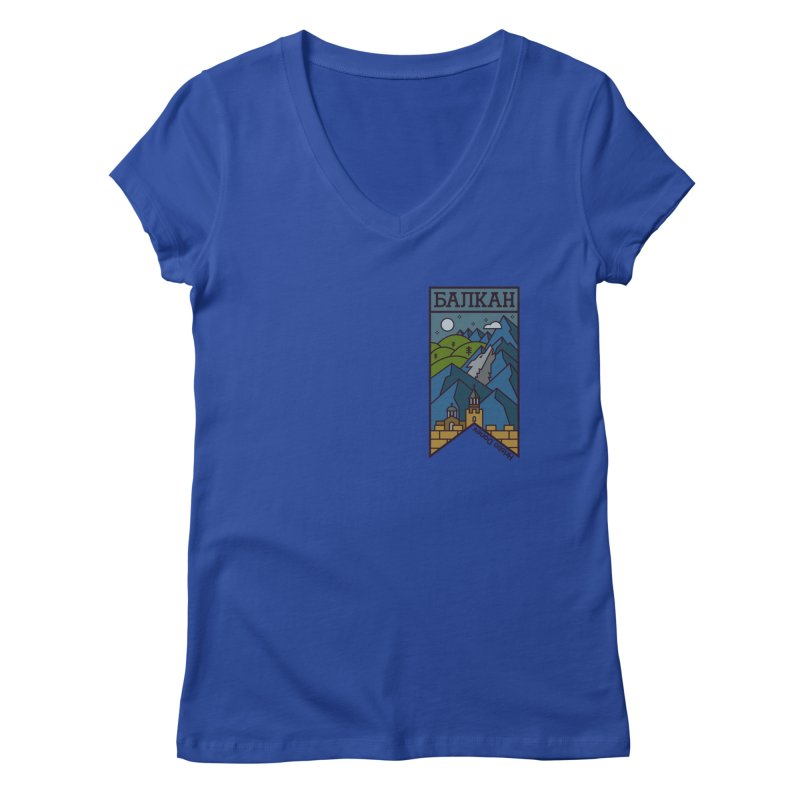 Balkan Women's Regular V-Neck by Hristo's Shop