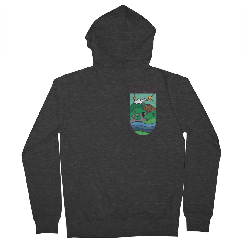 Rhodopi Men's French Terry Zip-Up Hoody by Hristo's Shop