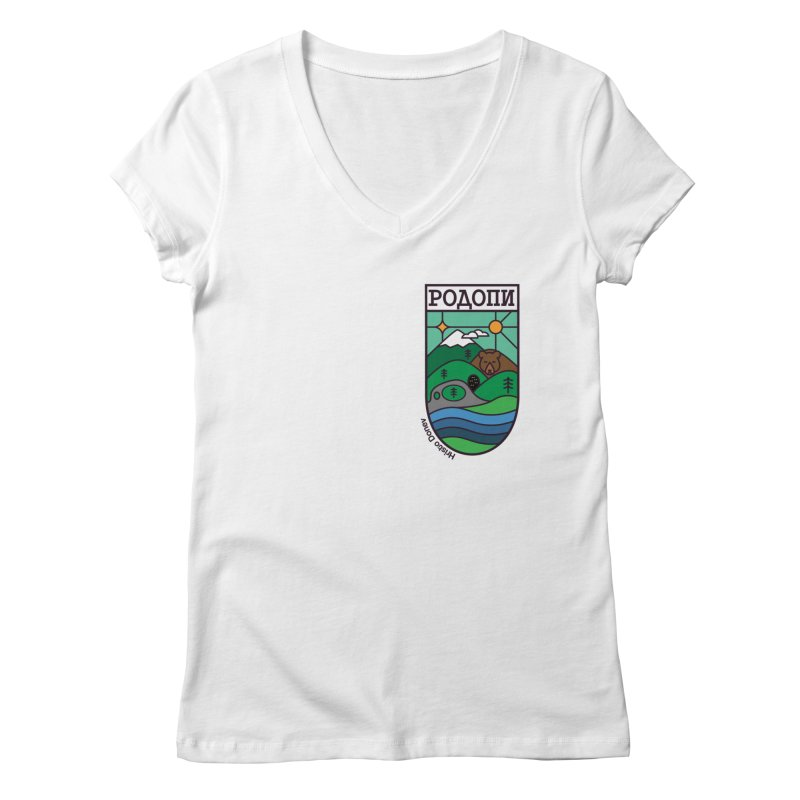 Rhodopi Women's Regular V-Neck by Hristo's Shop
