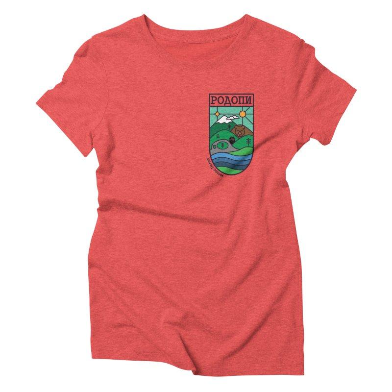 Rhodopi Women's Triblend T-Shirt by Hristo's Shop