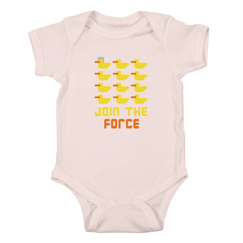 Join the duck force Kids Baby Bodysuit by hristodonev's Artist Shop