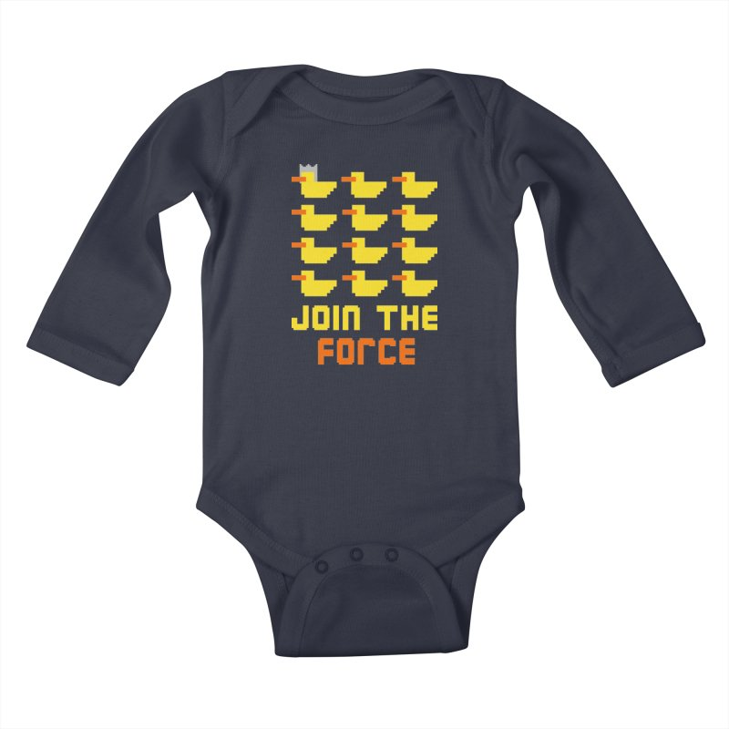 Join the duck force Kids Baby Longsleeve Bodysuit by hristodonev's Artist Shop