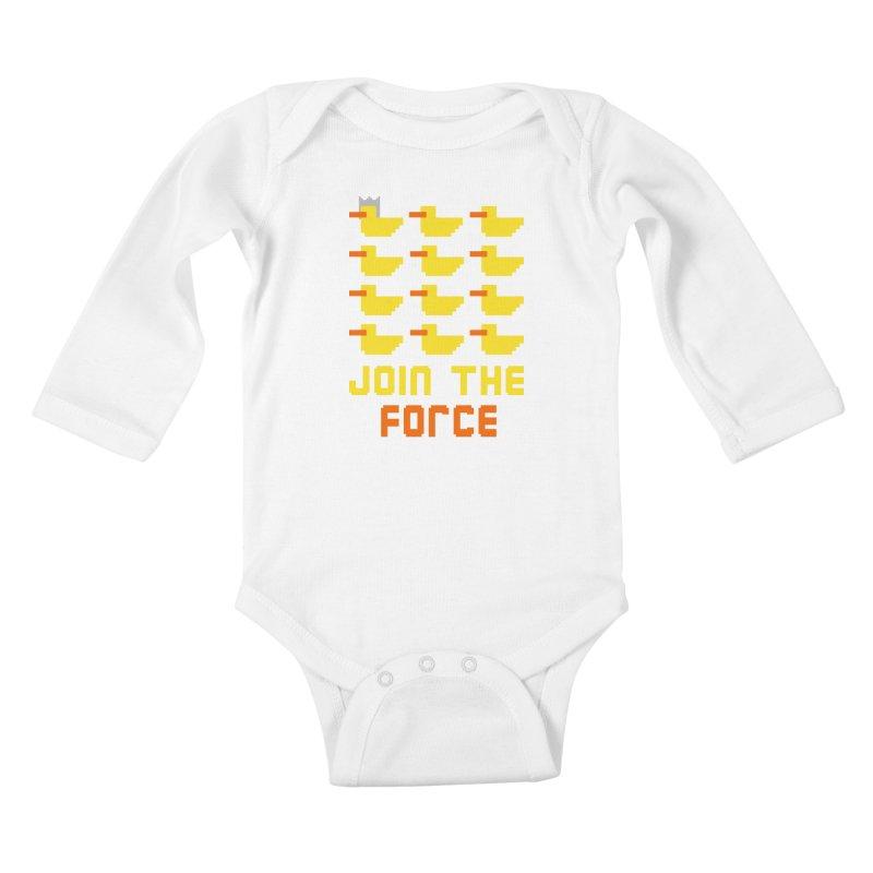 Join the duck force Kids Baby Longsleeve Bodysuit by hristodonev's Artist Shop
