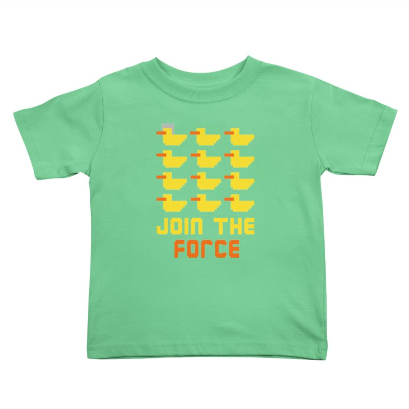 Join the duck force Kids Toddler T-Shirt by hristodonev's Artist Shop