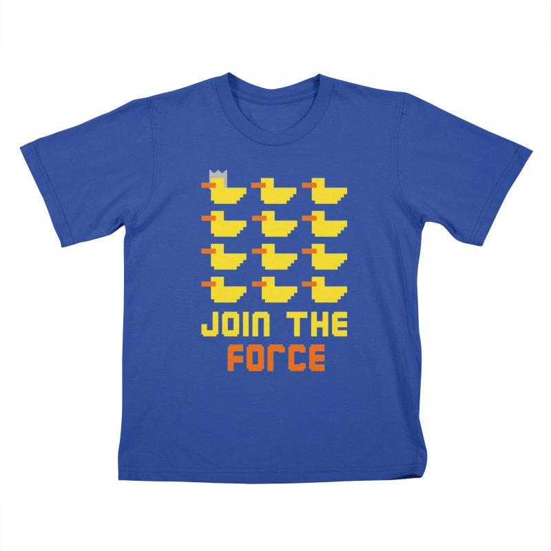 Join the duck force Kids T-shirt by hristodonev's Artist Shop