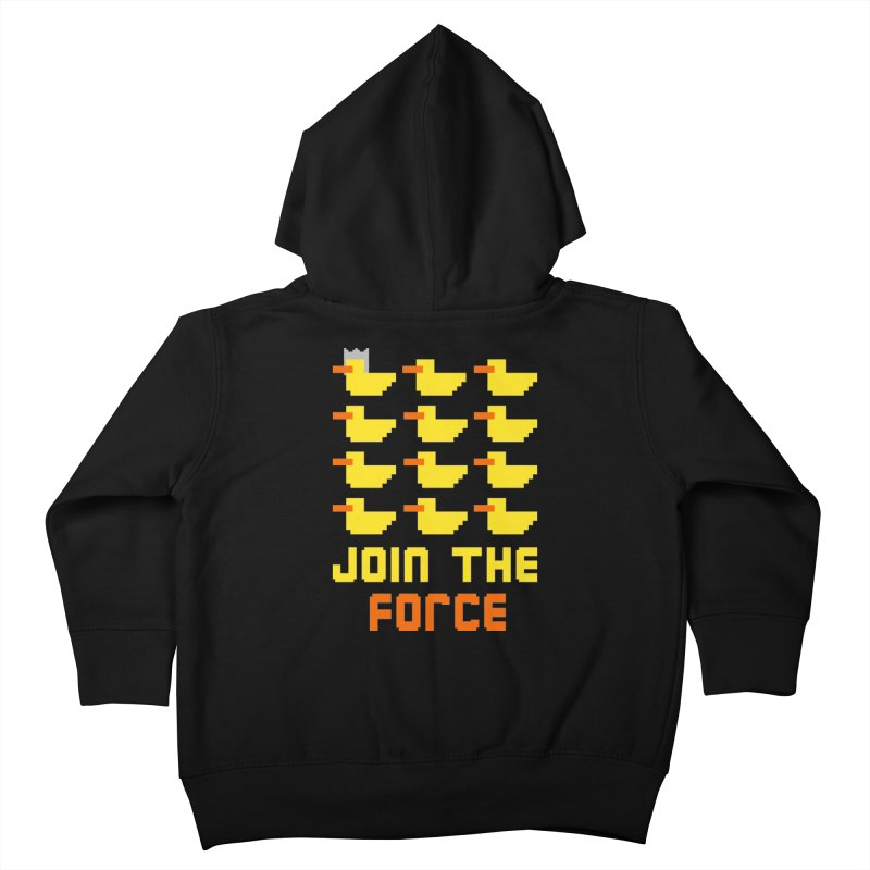 Join the duck force Kids Toddler Zip-Up Hoody by hristodonev's Artist Shop
