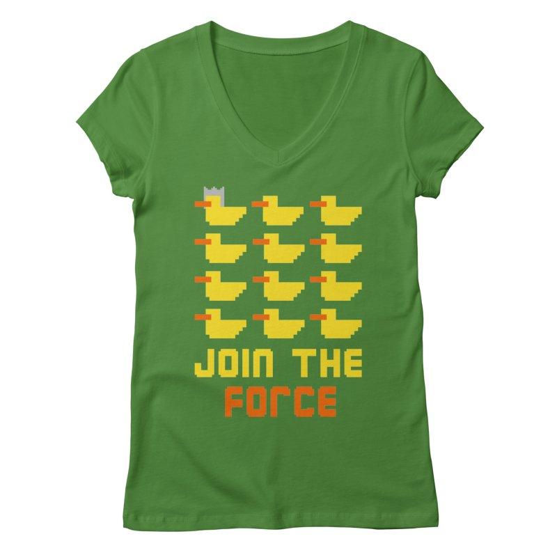 Join the duck force Women's V-Neck by hristodonev's Artist Shop