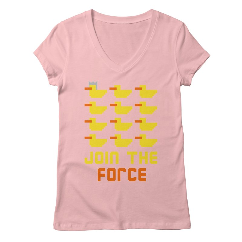 Join the duck force Women's V-Neck by hristodonev's Artist Shop