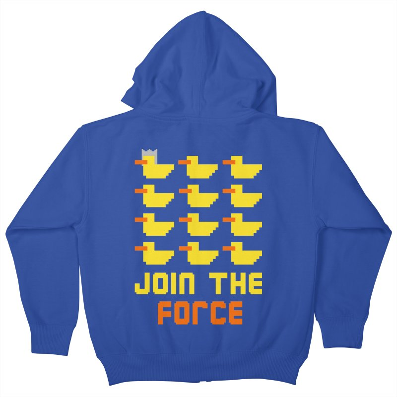 Join the duck force Kids Zip-Up Hoody by hristodonev's Artist Shop