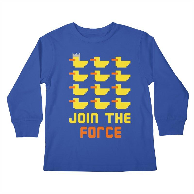 Join the duck force Kids Longsleeve T-Shirt by hristodonev's Artist Shop
