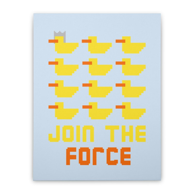 Join the duck force Home Stretched Canvas by hristodonev's Artist Shop