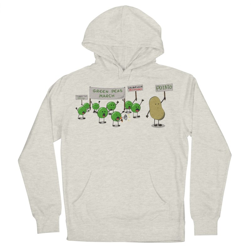 Green Peas March Men's Pullover Hoody by hristodonev's Artist Shop
