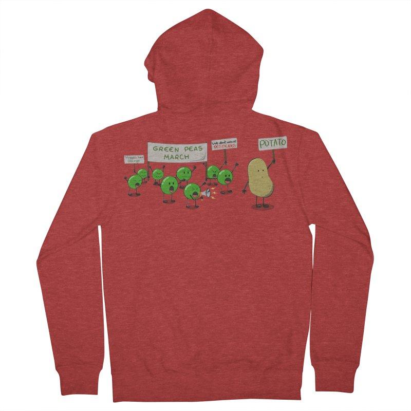 Green Peas March Women's Zip-Up Hoody by hristodonev's Artist Shop