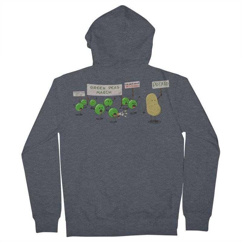 Green Peas March Men's Zip-Up Hoody by hristodonev's Artist Shop