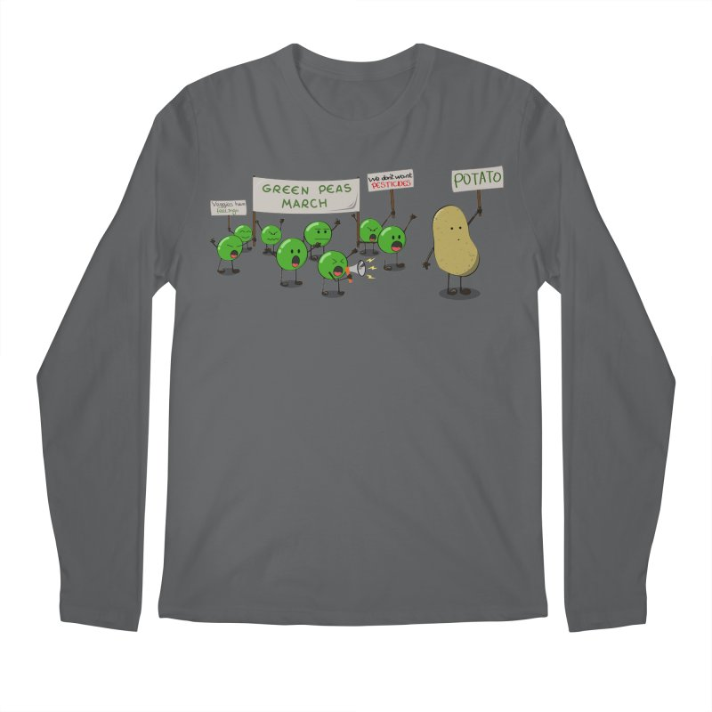 Green Peas March Men's Longsleeve T-Shirt by hristodonev's Artist Shop