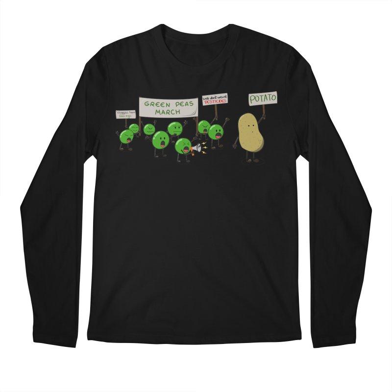 Green Peas March Men's Regular Longsleeve T-Shirt by Hristo's Shop