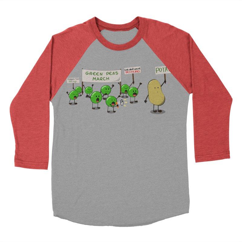 Green Peas March Women's Baseball Triblend T-Shirt by hristodonev's Artist Shop
