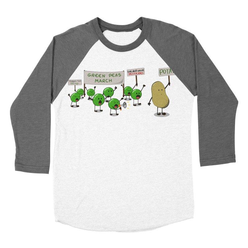 Green Peas March Men's Baseball Triblend T-Shirt by hristodonev's Artist Shop