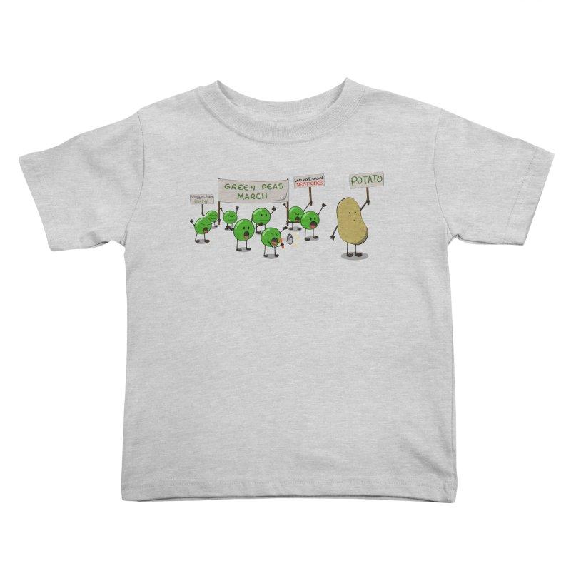 Green Peas March Kids Toddler T-Shirt by hristodonev's Artist Shop
