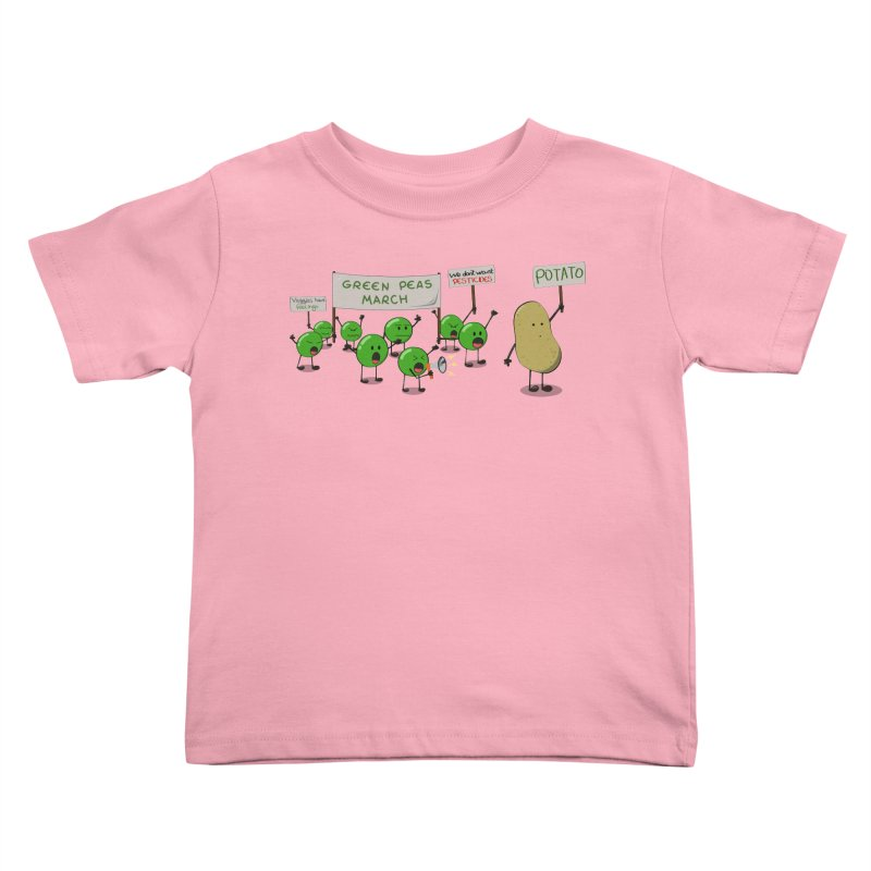 Green Peas March Kids Toddler T-Shirt by hristodonev's Artist Shop