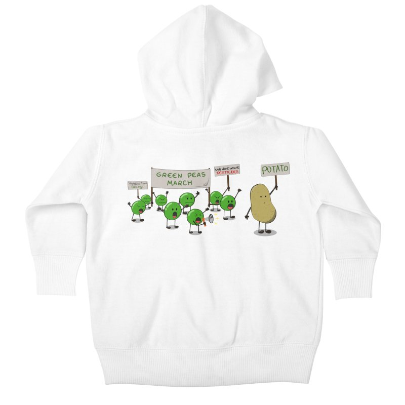 Green Peas March Kids Baby Zip-Up Hoody by hristodonev's Artist Shop