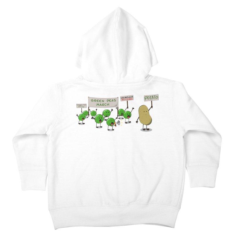 Green Peas March Kids Toddler Zip-Up Hoody by hristodonev's Artist Shop