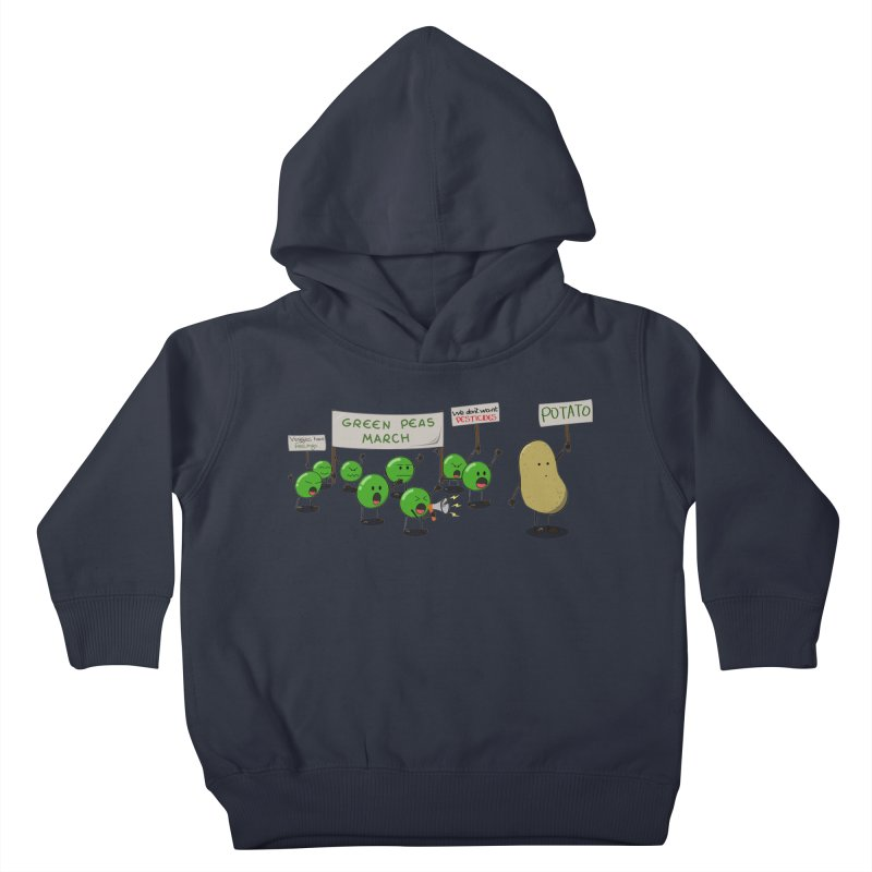 Green Peas March Kids Toddler Pullover Hoody by hristodonev's Artist Shop