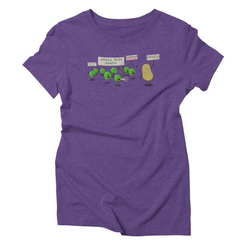 Green Peas March Women's Triblend T-Shirt by hristodonev's Artist Shop