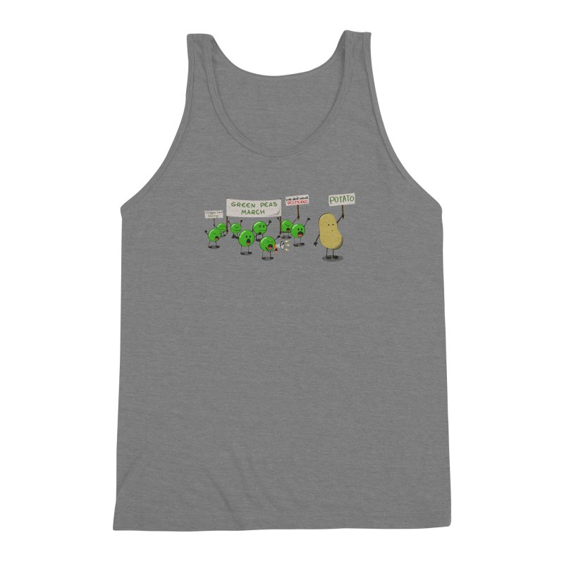 Green Peas March Men's Triblend Tank by hristodonev's Artist Shop