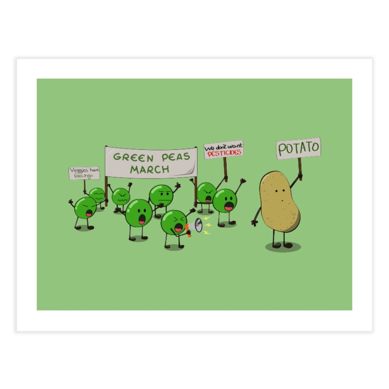 Green Peas March   by hristodonev's Artist Shop