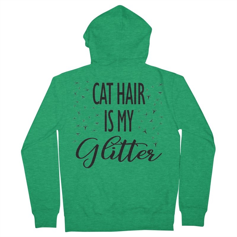 Cat Hair Is My Glitter (LG Design) Men's Zip-Up Hoody by The Humane Society of the Black Hills