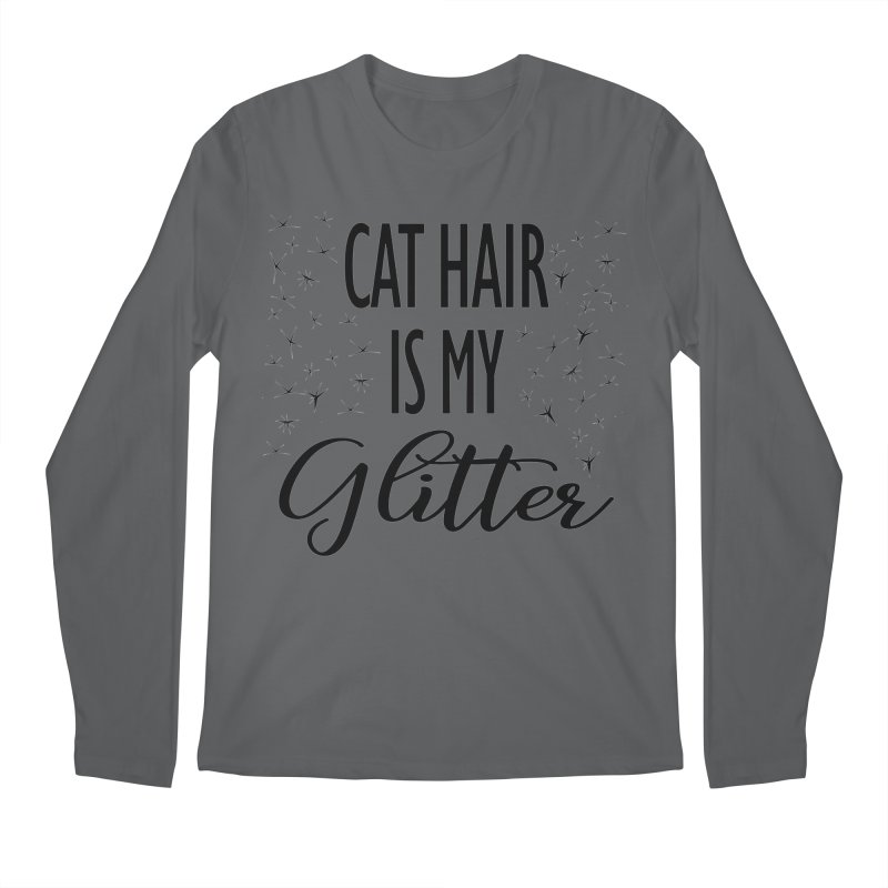 Cat Hair Is My Glitter (LG Design) Men's Longsleeve T-Shirt by The Humane Society of the Black Hills