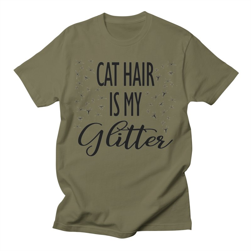 Cat Hair Is My Glitter (LG Design) Men's T-Shirt by The Humane Society of the Black Hills