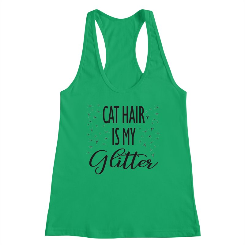 Cat Hair Is My Glitter (LG Design) Women's Tank by The Humane Society of the Black Hills