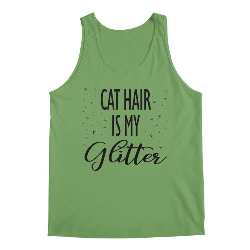 Cat Hair Is My Glitter (LG Design) Men's Tank by The Humane Society of the Black Hills