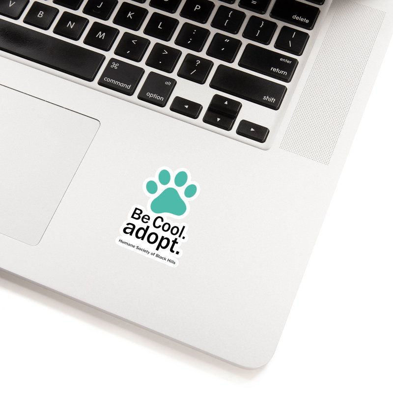 Be Cool. Adopt - Aquamarine Accessories Sticker by The Humane Society of the Black Hills