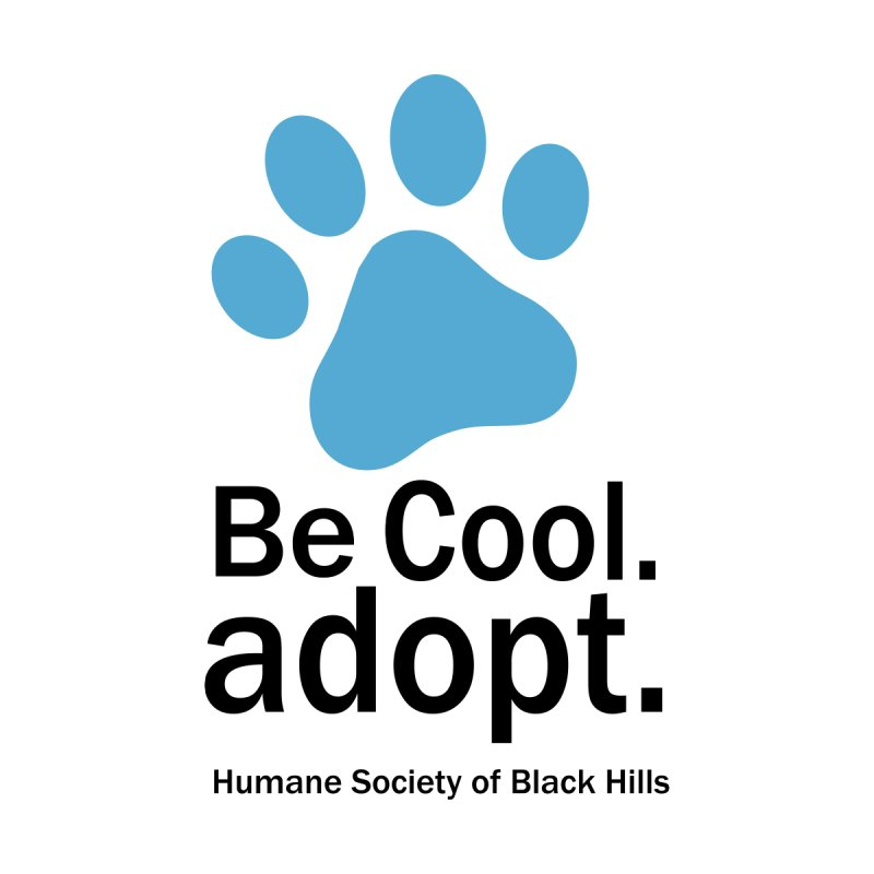 Be Cool. Adopt - Blue Men's Sweatshirt by The Humane Society of the Black Hills