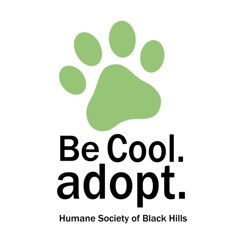 Be Cool. Adopt - Green Men's T-Shirt by The Humane Society of the Black Hills