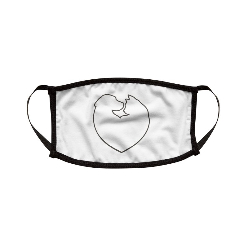 Humane Society of the Black Hills Silhouette Face Mask Accessories Face Mask by The Humane Society of the Black Hills