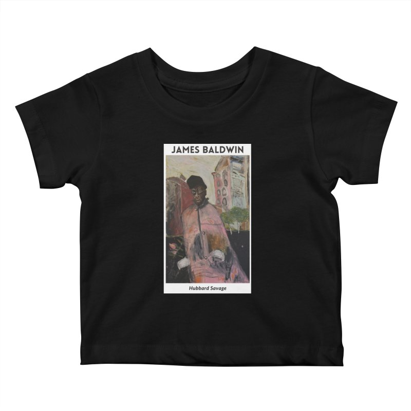 James Baldwin by Hubbard Savage Kids Baby T-Shirt by hubbard.savage.art
