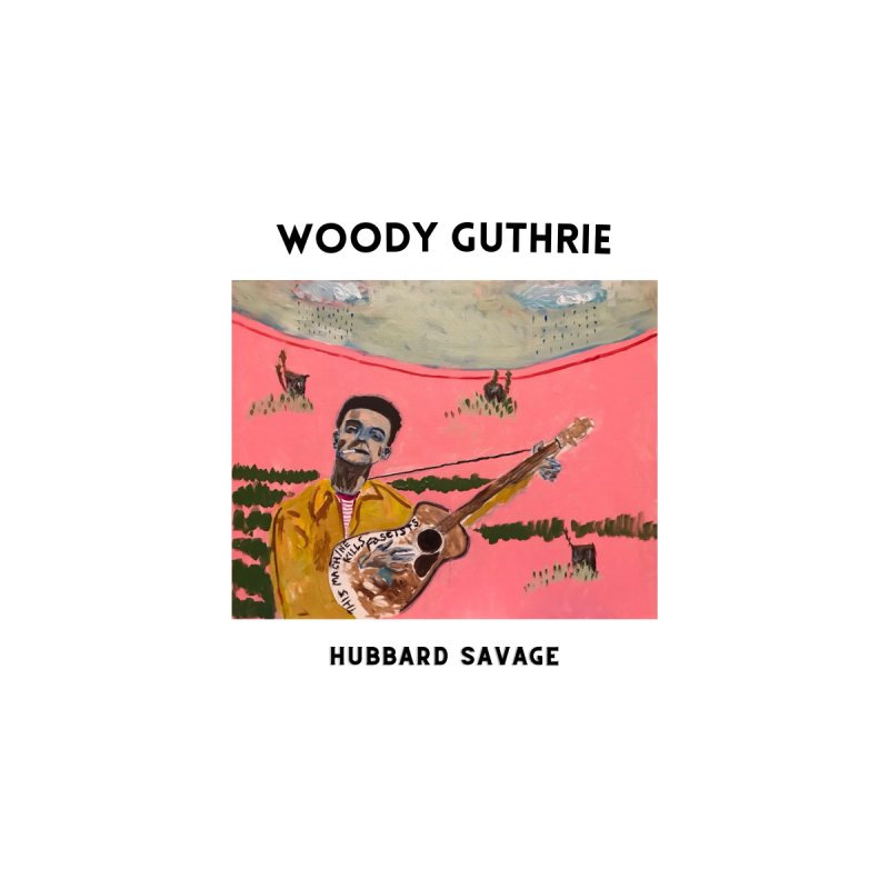 Woody Guthrie by Hubbard Savage Men's T-Shirt by hubbard.savage.art