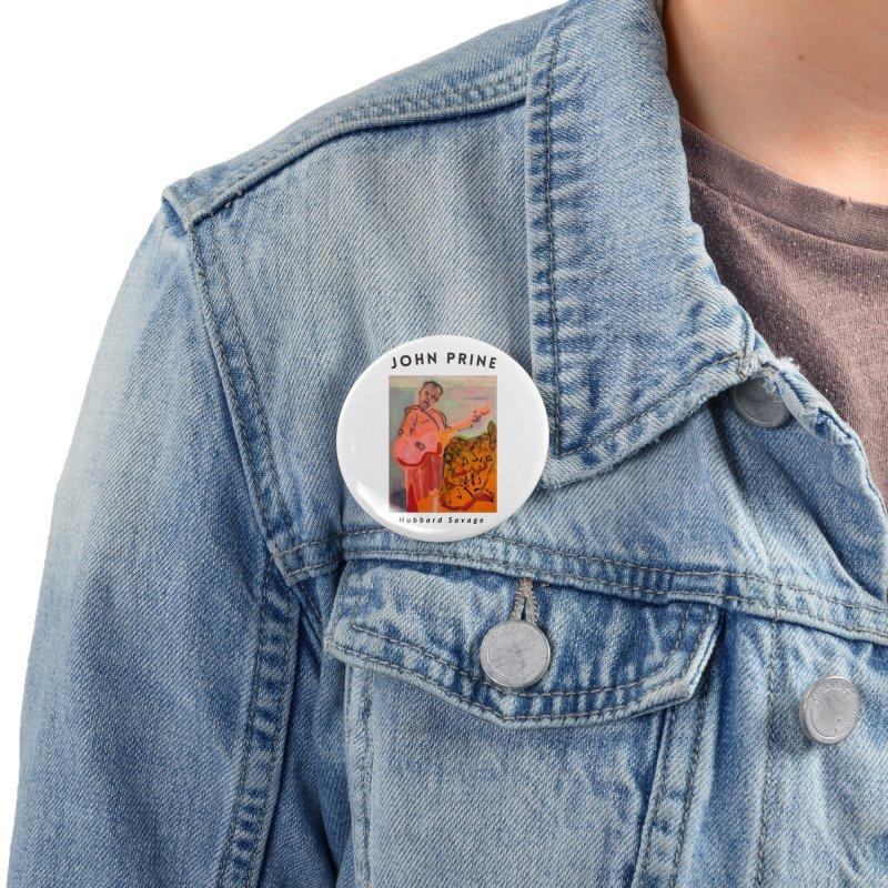 John Prine by Hubbard Savage Accessories Button by hubbard.savage.art