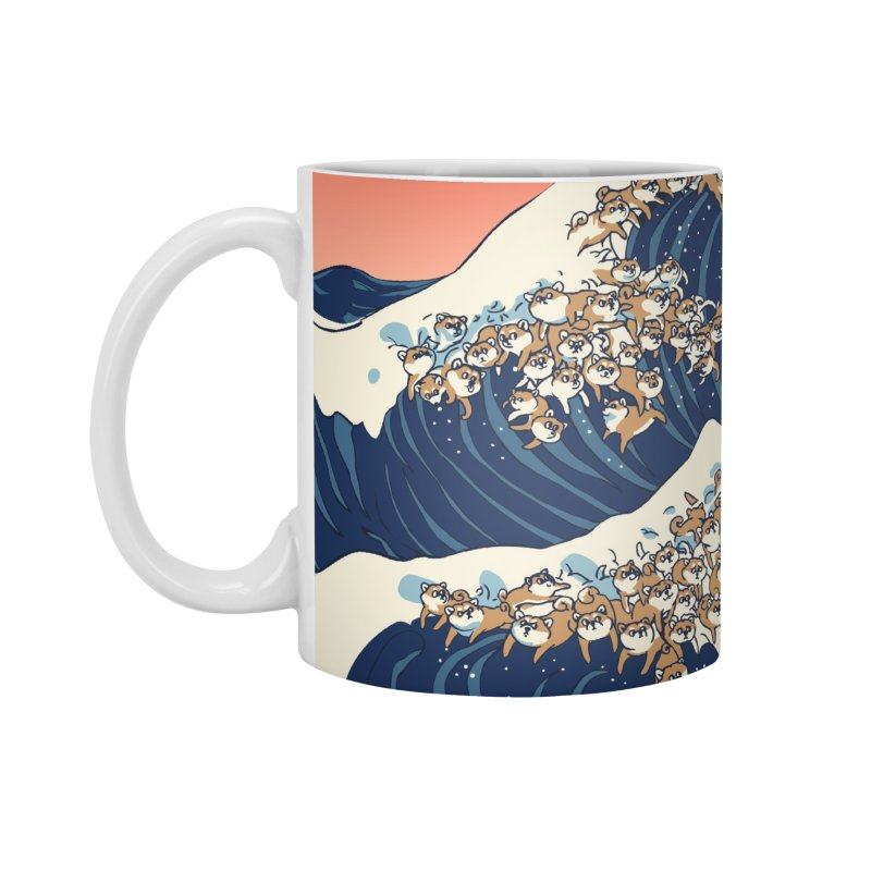 The Great Wave of Shiba Inu Accessories Standard Mug by huebucket's Artist Shop