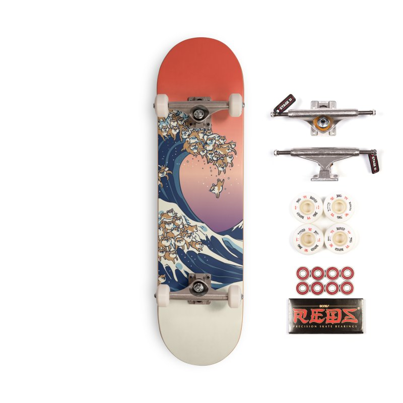 The Great Wave of Shiba Inu Accessories Complete - Pro Skateboard by huebucket's Artist Shop
